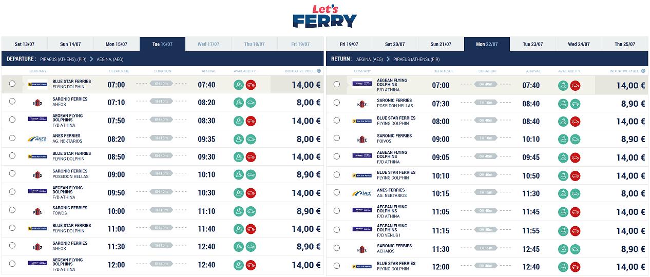 Ferry Piraeus (Atena) Aegina Iulie 2019